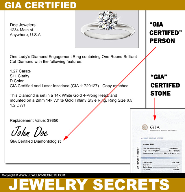 GIA Certified Diamonds Are Not The Same As GIA Certified