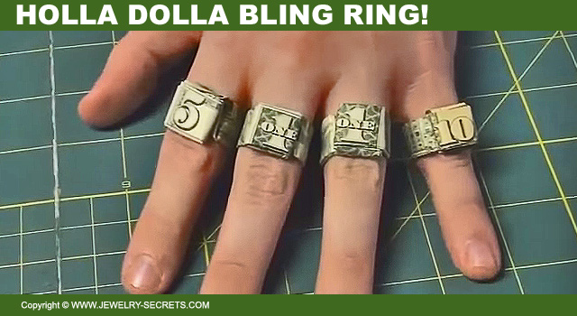 Dollar Bill Origami Rings