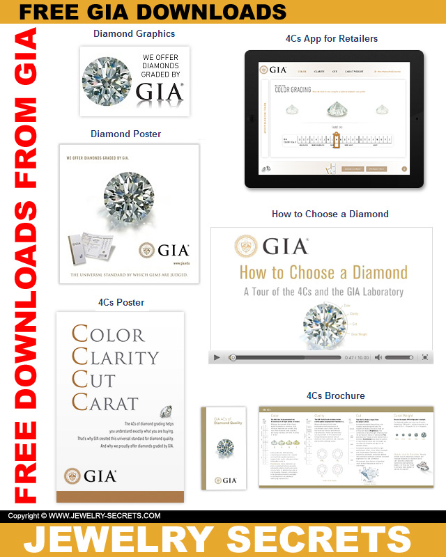 FREE GIA 4C'S DIAMOND CHART DOWNLOADS – Jewelry Secrets