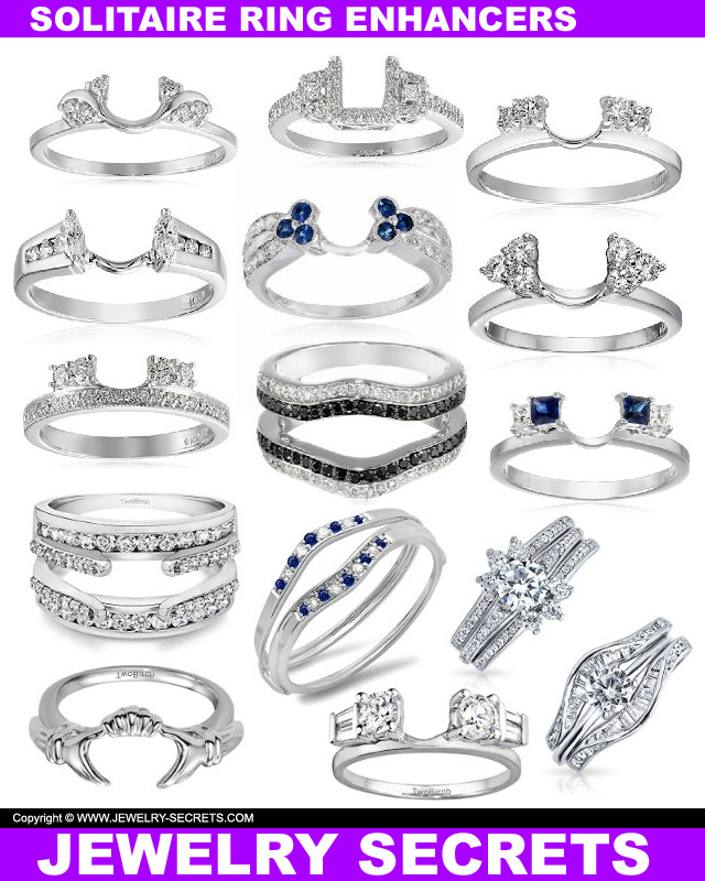 solitaire ring enhancers - Wedding Ring Enhancers
