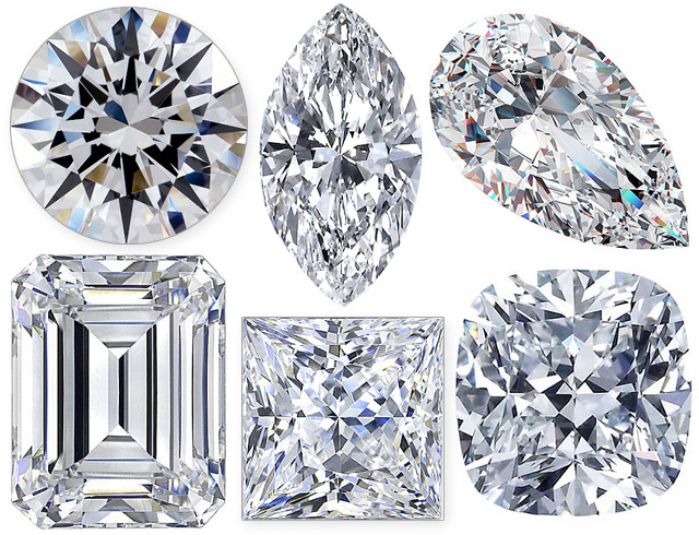 Diamond Cutting Styles Shapes