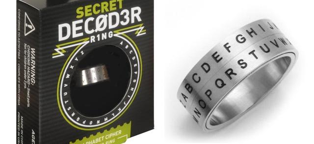 Secret Decoder Ring Alphabet Shift