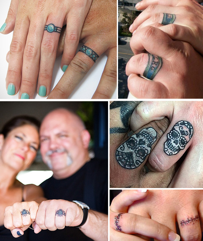 tattoo tattooed wedding bands rings 1 - Tattoo Wedding Rings