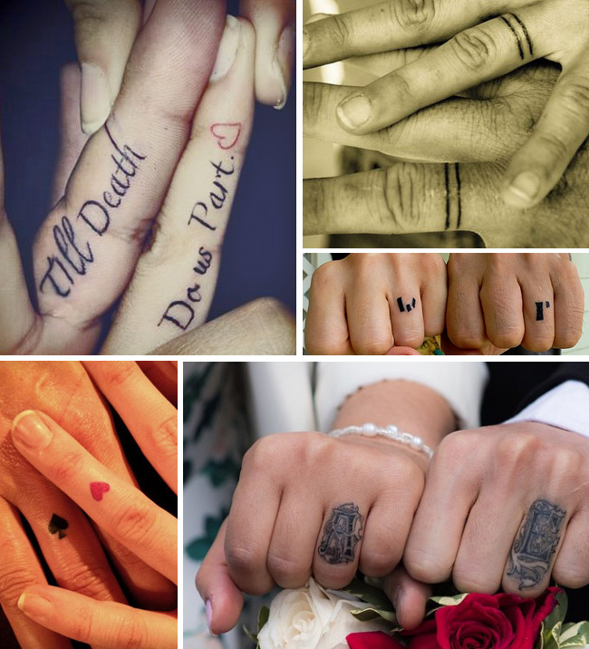 tattoo tattooed wedding bands rings 2 - Tattoo Wedding Rings