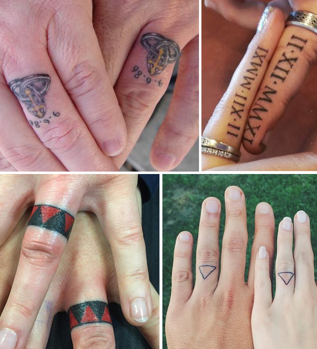 tattoo tattooed wedding bands rings 5 - Tattoo Wedding Rings