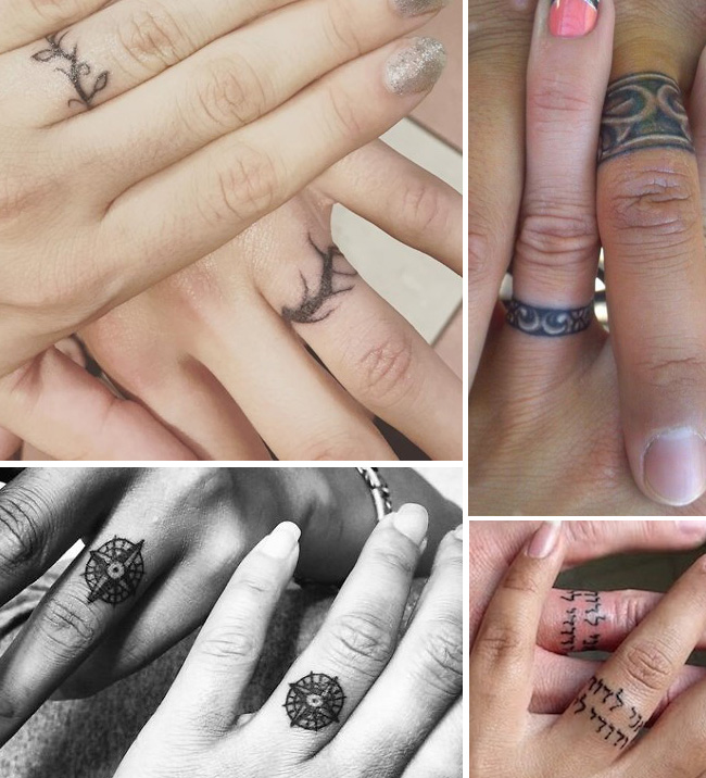 tattoo tattooed wedding bands rings 7 - Tattoo Wedding Rings