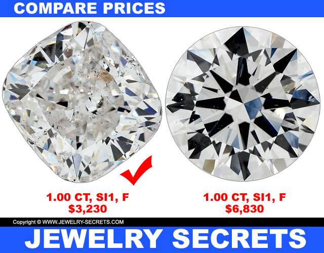 The Cushion Cut Is The Cheapest Diamond Shape There Is