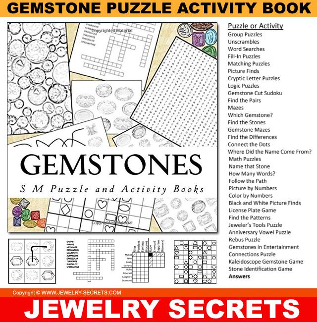 Gemstone Puzzle Activity Book