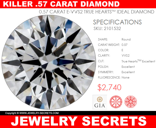 a killer half carat diamond true hearts