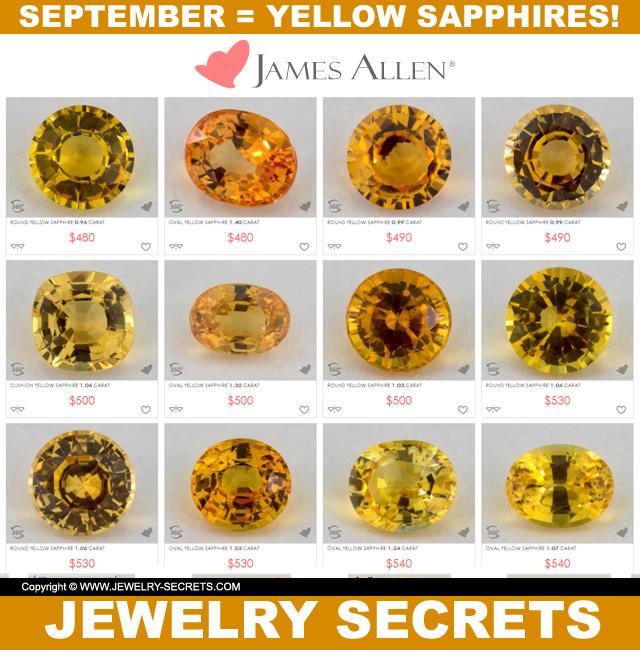 september yellow sapphires