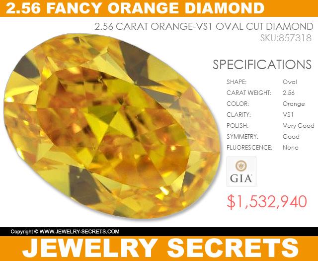2-56 carat fancy orange diamond