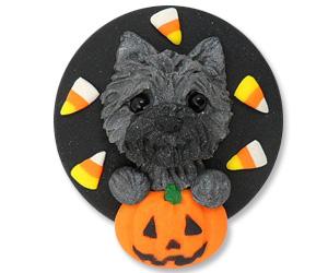 cairn terrier halloween brooch