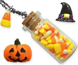candy corn bottle pendant