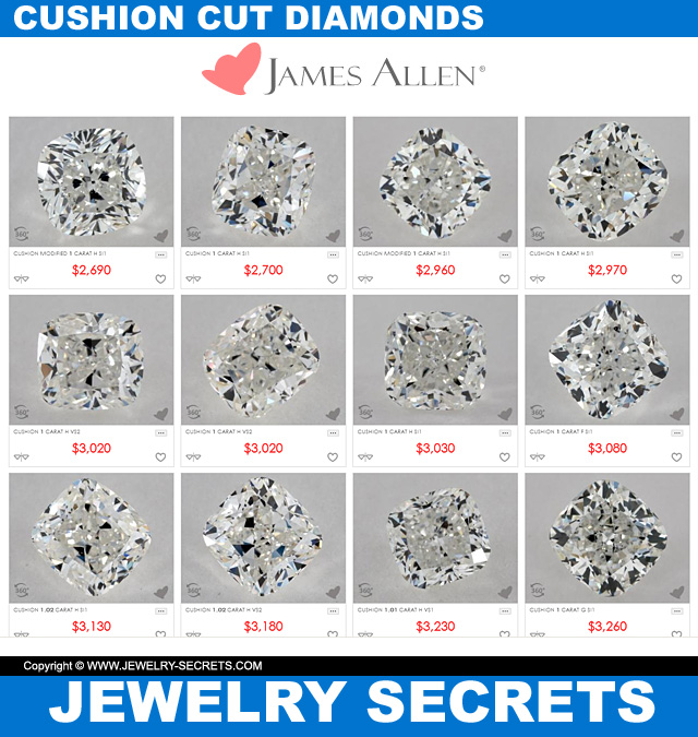 excellent cushion cut diamonds