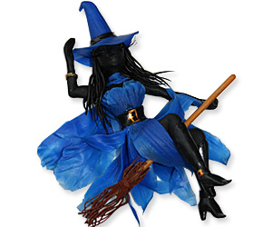 halloween witch brooch