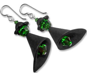 halloween witch earrings