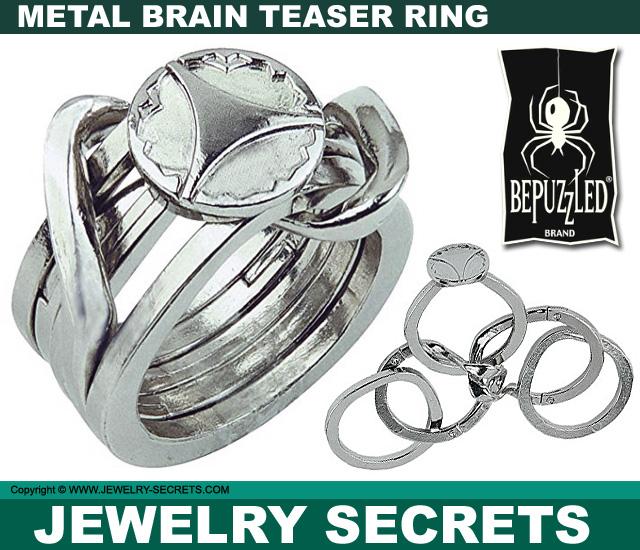 metal brain teaser puzzle ring