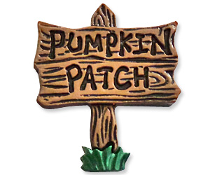 pumpkin patch lapel pin