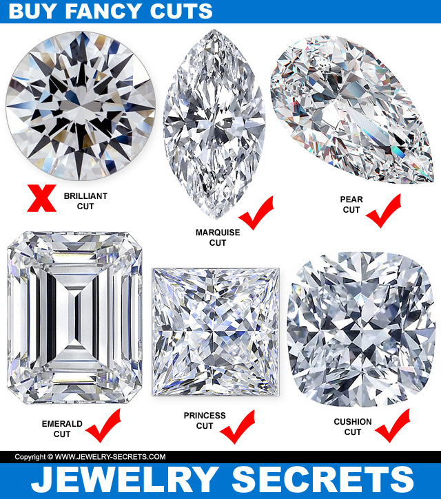 save on fancy cut diamonds