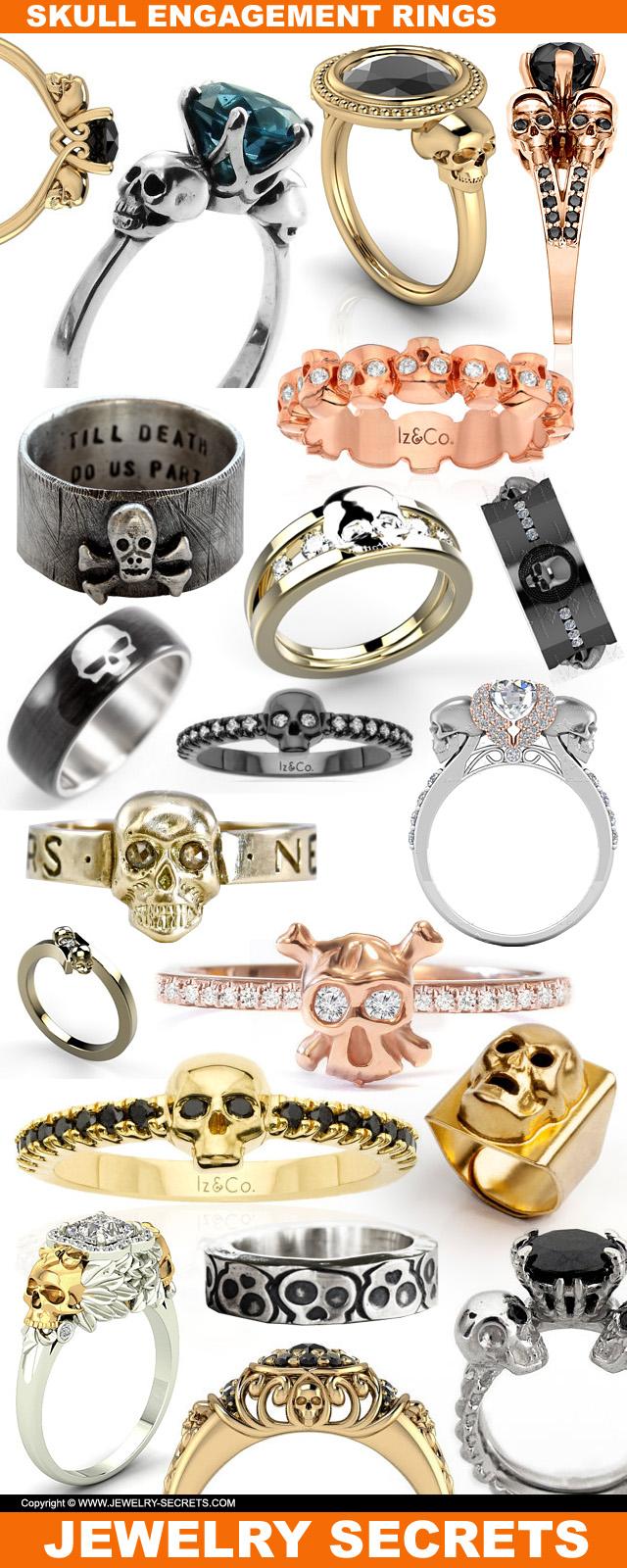 skull engagement rings