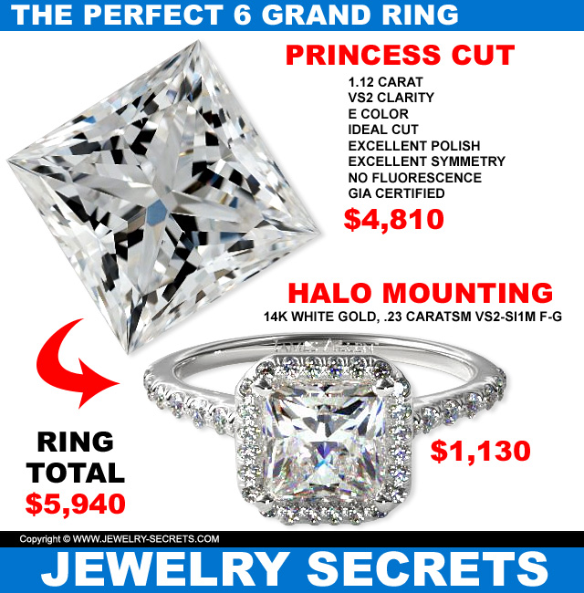 the perfect six grand diamond engagement ring