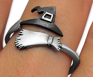 witch hat broom ring