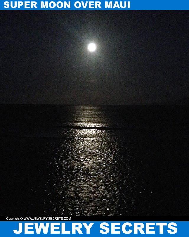 super moon over maui