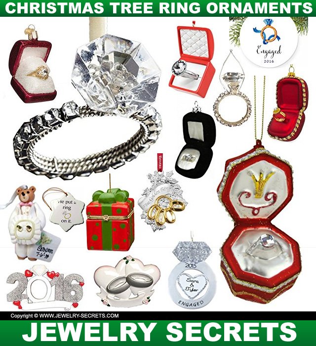 Engagement ring christmas ornaments jewelry secrets for Engagement christmas tree ornaments