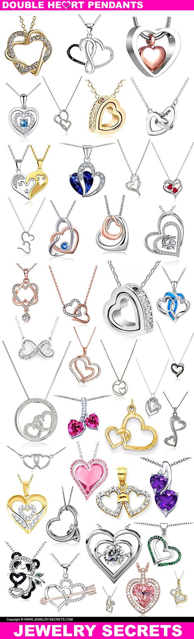 double heart pendant jewelry