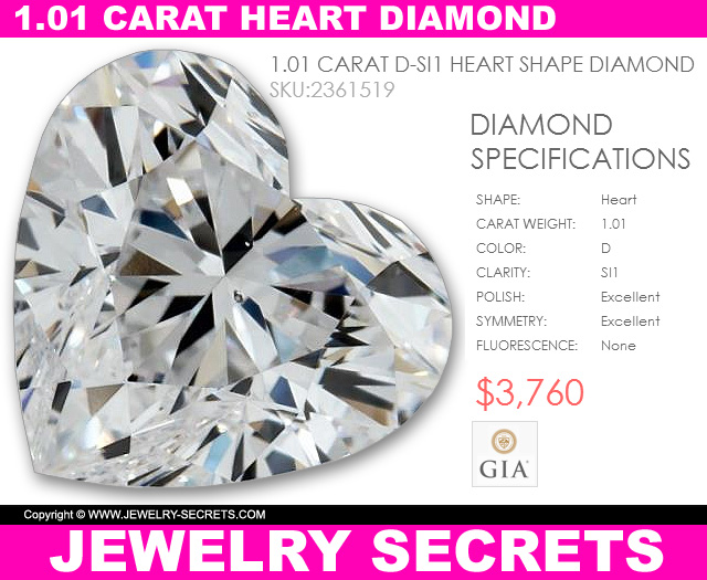 incredible buy on loose heart shaped diamond
