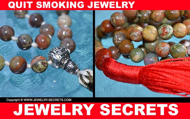 quit smoking jasper necklace