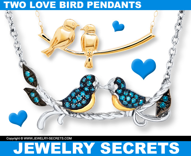 Two love bird pendants jewelry secrets two love bird pendants aloadofball Images