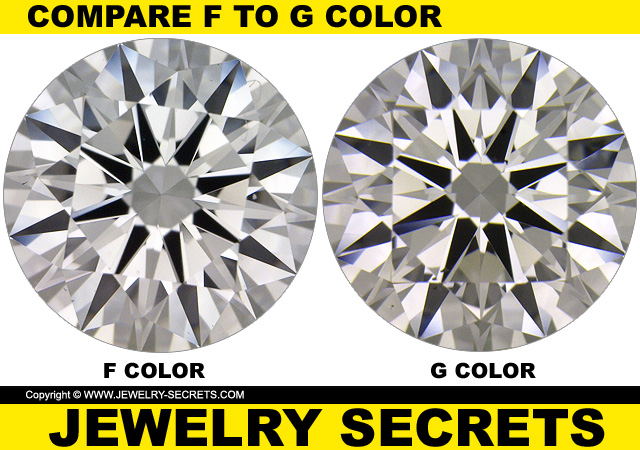 Compare F Vs G Diamond Color Jewelry Secrets