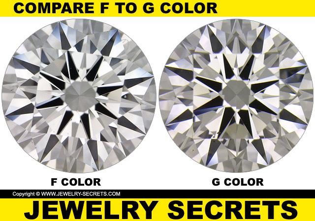 Compare F Vs G Diamond Color Jewelry Secrets