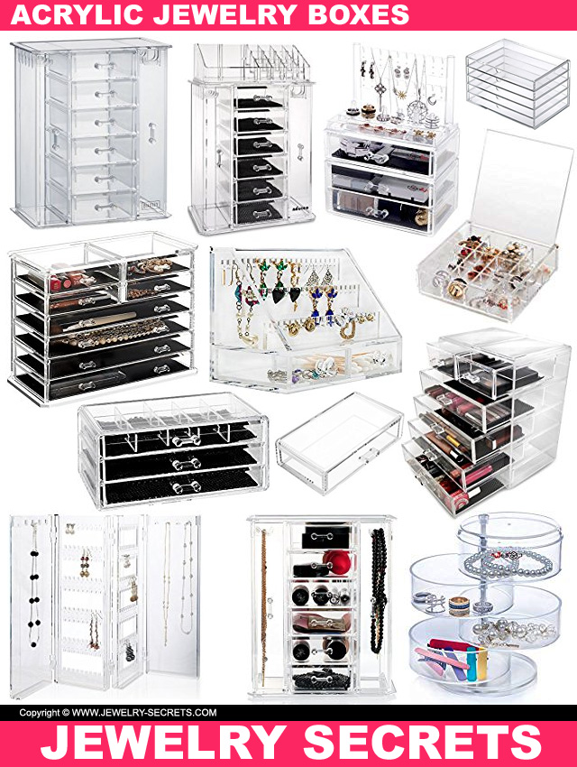 Acrylic See-Through Jewelry Boxes
