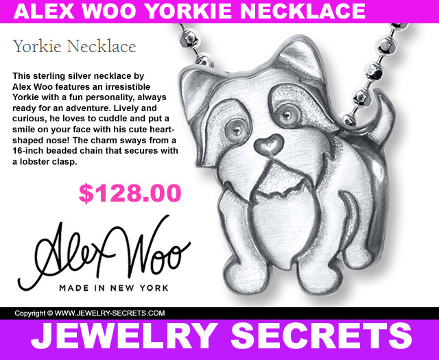 If this isnt the cutest pendant ever jewelry secrets the cutest yorkie pendant necklace by alex woo aloadofball Image collections