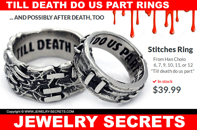 Till Death Do Us Part Stitches Rings