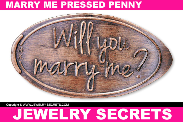 Will You Marry Me Pressed Penny