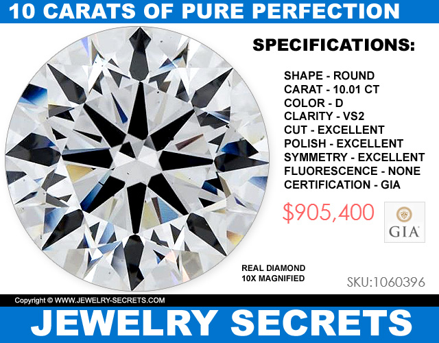 10 Carat Diamond Perfections VS2 D Excellent