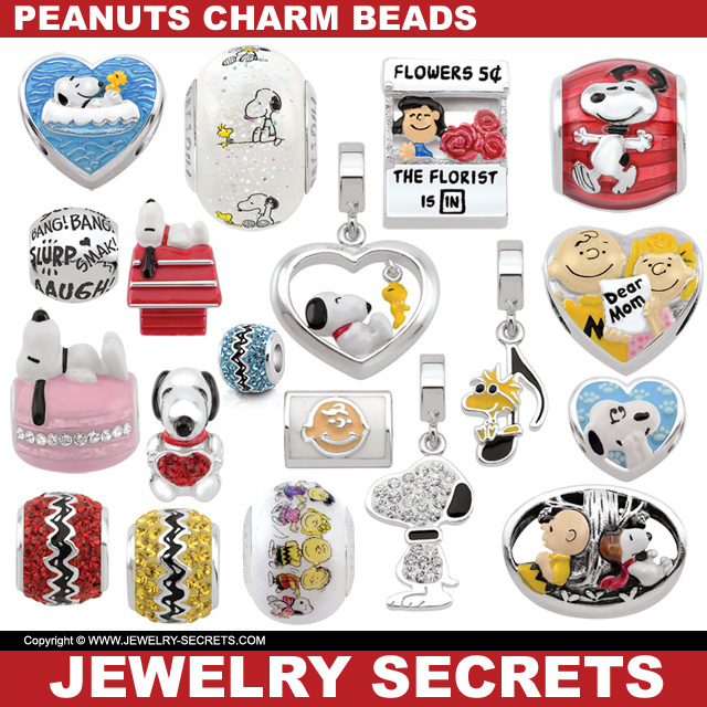 Charlie Browns Peanuts Snoopy Charm Beads For Bracelets