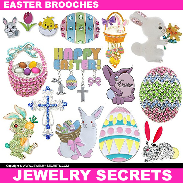 Easter Brooch Pins