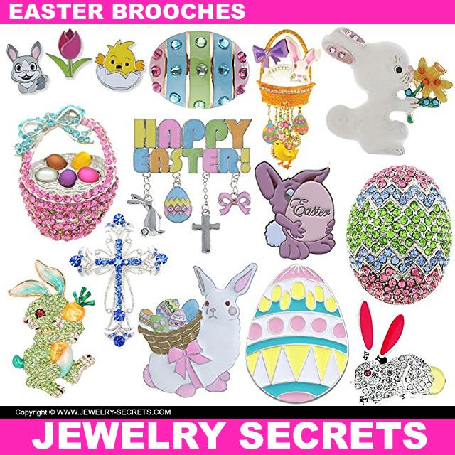 Easter Brooch Pins