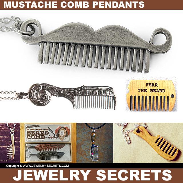 Mustache Comb Pendants