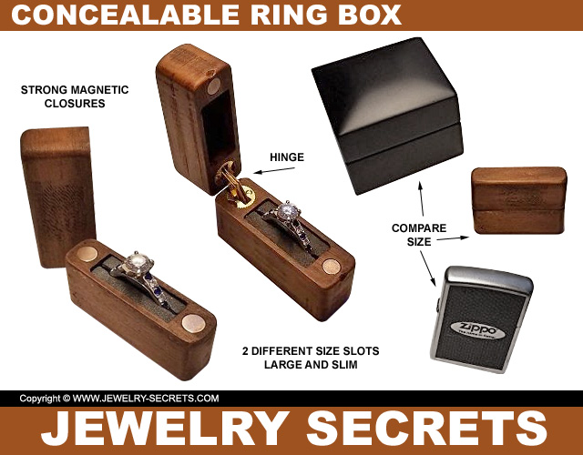 Concealable Engagement Ring Proposal Box