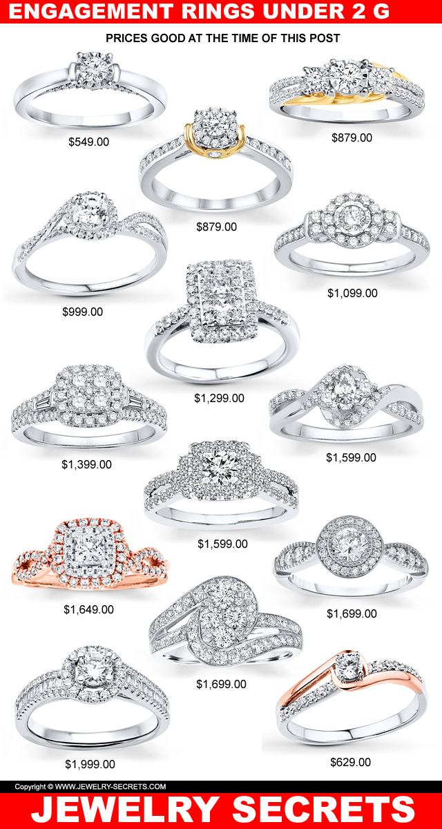 ENGAGEMENT RINGS UNDER $2 000 – Jewelry Secrets