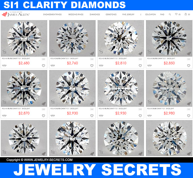 The Best SI1 Clarity Diamonds