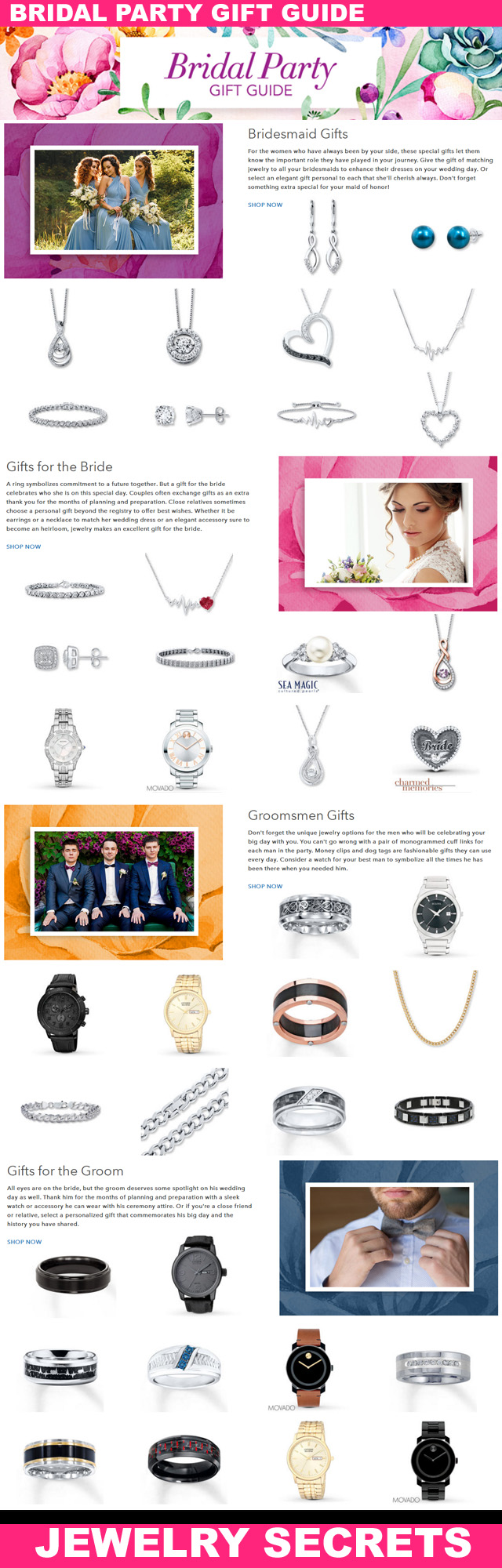 Bridal Party Jewelry Gift Guide