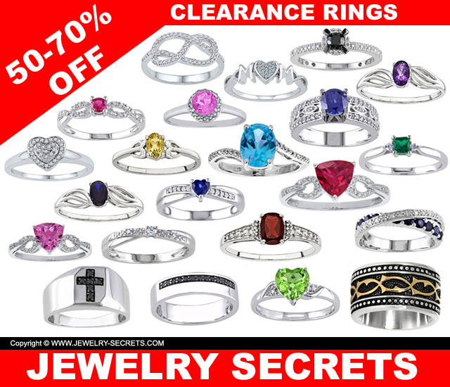 Clearance Rings 50-70 Percent Off