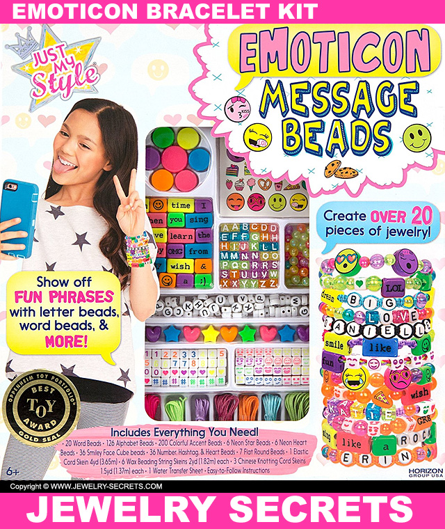 Emoji Emoticon Bracelet Kit For Kids