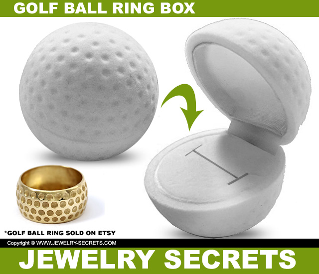 Golf Ball Engagement Ring Box